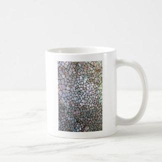 紫色のモザイク模様 コーヒーマグカップ