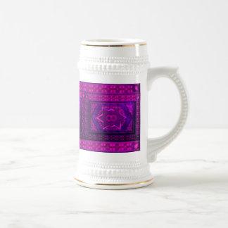 紫色のモザイク箱 ビールジョッキ