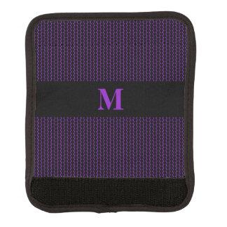 紫色のモノグラムの小さく黒い点 ラゲッジ ハンドルラップ