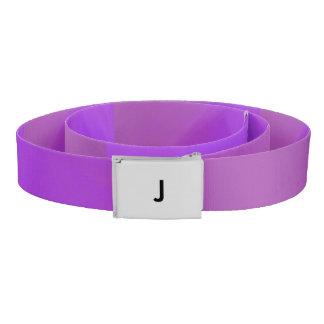 紫色のモノグラム ベルト