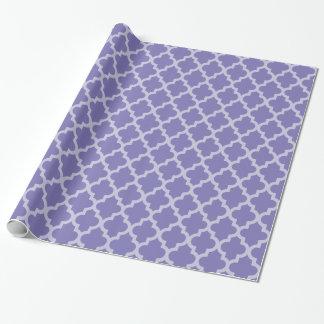 紫色のモロッコの気分Quatrefoil ラッピングペーパー