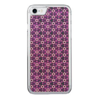 紫色のモロッコの花模様 CARVED iPhone 8/7 ケース
