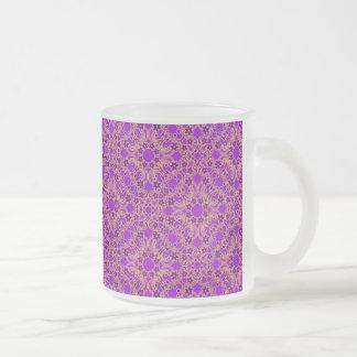 紫色のモロッコパターン フロストグラスマグカップ