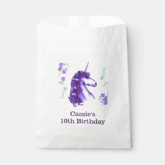 紫色のユニコーンの誕生会の好意のバッグ フェイバーバッグ