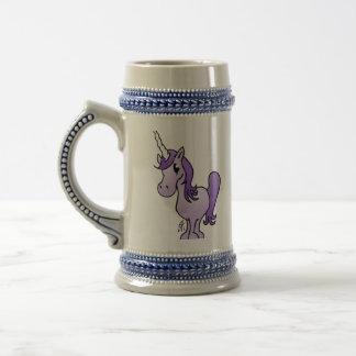 紫色のユニコーン ビールジョッキ
