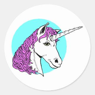 紫色のユニコーン ラウンドシール