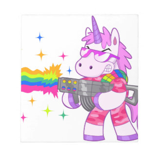 紫色のユニコーン-銃 ノートパッド
