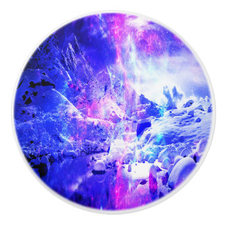 紫色のユール(キリスト降誕祭)夜夢 セラミックノブ
