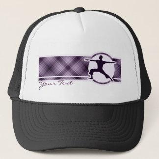 紫色のヨガ キャップ