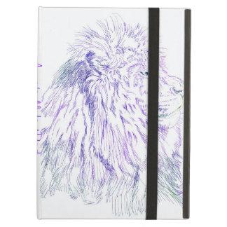 紫色のライオンの~の立場とのカスタマイズ可能なiPadの場合 iPad Airケース