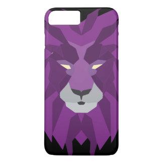 紫色のライオンのvektorの芸術 iPhone 8 plus/7 plusケース