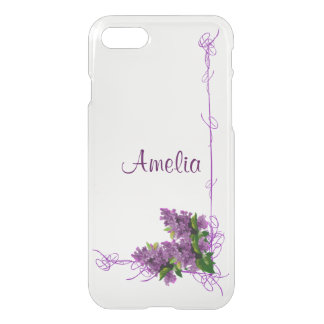 紫色のライラックのiPhone 7のClearly™のディフレクターの箱 iPhone 8/7 ケース