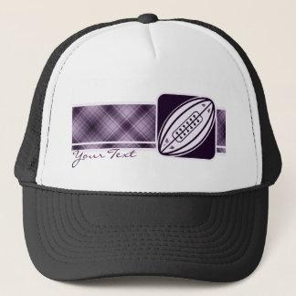 紫色のラグビー キャップ