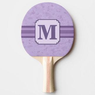 紫色のラベンダーのカスタムでストライプのなモノグラム 卓球ラケット