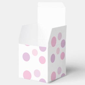 紫色のラベンダーのピンクの水玉模様の誕生会 フェイバーボックス