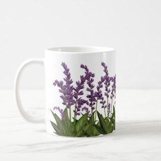 紫色のラベンダーの春の花のコーヒー・マグ コーヒーマグカップ
