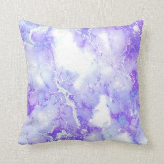 紫色のラベンダーの曇った大理石の石 クッション