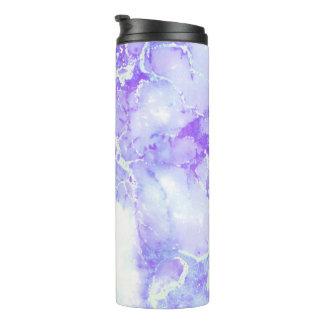 紫色のラベンダーの曇った大理石の石 タンブラー