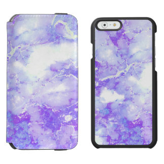 紫色のラベンダーの曇った大理石の石 INCIPIO WATSON™ iPhone 5 財布型ケース