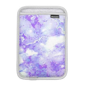 紫色のラベンダーの曇った大理石の石 iPad MINIスリーブ