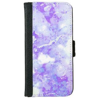 紫色のラベンダーの曇った大理石の石 iPhone 6/6S ウォレットケース