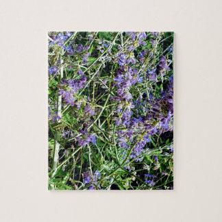 紫色のラベンダーの植物の花 ジグソーパズル