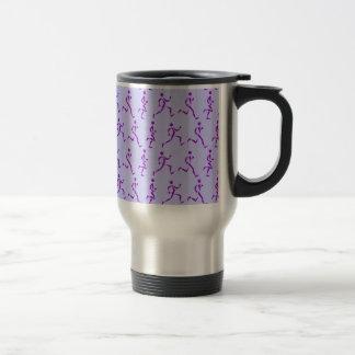 紫色のランナー トラベルマグ