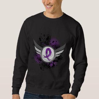 紫色のリボンおよび翼の無食欲症 スウェットシャツ