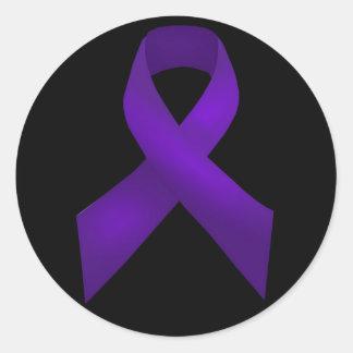 紫色のリボンの認識度のループス ラウンドシール