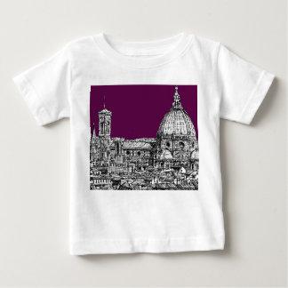 紫色のルネサンスのスケッチ ベビーTシャツ