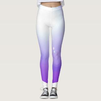 紫色のレギンスのファッションのトレーニングはBrightsを遊ばします レギンス