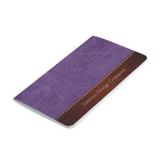紫色のレザールック ポケットジャーナル