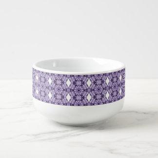 紫色のレースのフラクタルパターン スープマグ