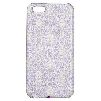 紫色のレースの名前入りなiPhoneの場合 iPhone5Cカバー