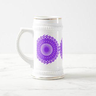 紫色のレースの設計 ビールジョッキ
