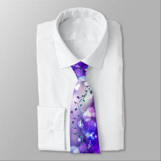 紫色のロックスターのファンタジーの軽音楽のノート ネクタイ