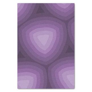 紫色の三角形の幾何学的設計 薄葉紙