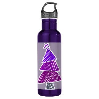 紫色の不完全なクリスマスツリー ウォーターボトル