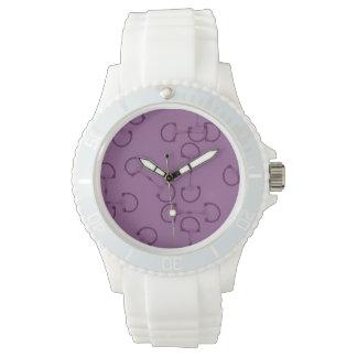 紫色の乗馬の馬ビット 腕時計