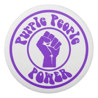 紫色の人々力 消しゴム