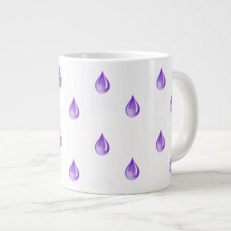 紫色の低下 ジャンボコーヒーマグカップ