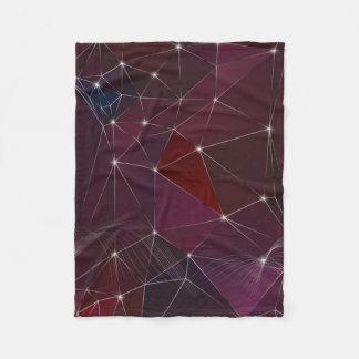 紫色の低多三角形のフリースブランケット フリースブランケット