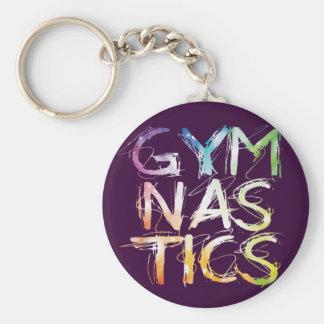 紫色の体操のスターバストをカスタマイズ キーホルダー