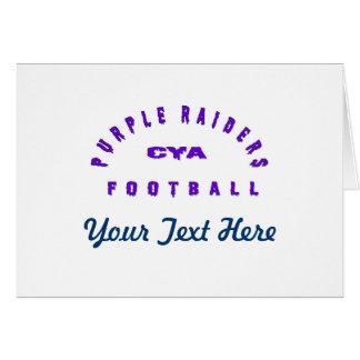紫色の侵入者のギア グリーティングカード