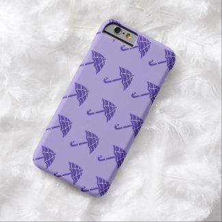 紫色の傘パターンiPhone 6の箱 Barely There iPhone 6 ケース