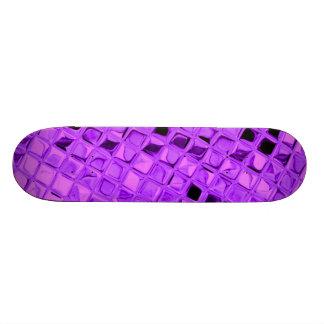 紫色の光沢があるダイヤモンドのいくじなしの女の子らしい女の子のスケートボード スケートボード