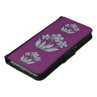 紫色の具体的なPosies Galaxy S6 ウォレットケース