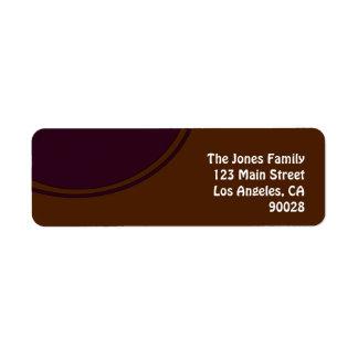 紫色の円との茶色 ラベル