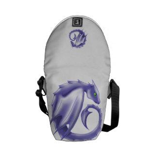 紫色の円のドラゴンの小型メッセンジャーバッグ メッセンジャーバッグ