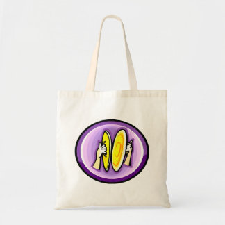 紫色の円の衝突のシンバルを演奏する2つの手 トートバッグ